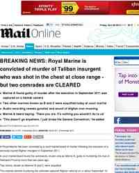 BREAKING NEWS Royal Marine is convicted of murder: MailOnline