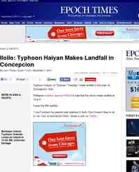 Iloilo Typhoon Haiyan Makes Landfall in Concepcion: Epoch Times